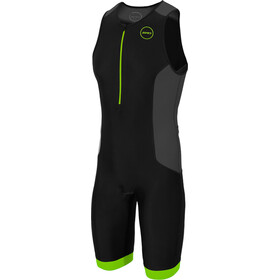 Zone3 Aquaflo Plus Triathlon-puku Miehet, black/grey/neon green